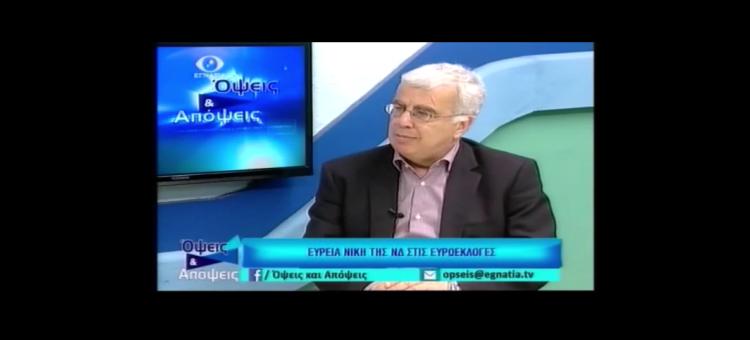 Συζητάμε στην εκπομπή «Όψεις & Απόψεις» στην Εγνατία Τηλεόραση για τη νίκη της ΝΔ στις εκλογές