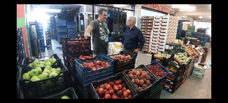 Δ.Τ. Συνεχίζει το πρόγραμμα δράσεών του ο κ.Στράτος Σιμόπουλος με επίσκεψη στην Λαχαναγορά
