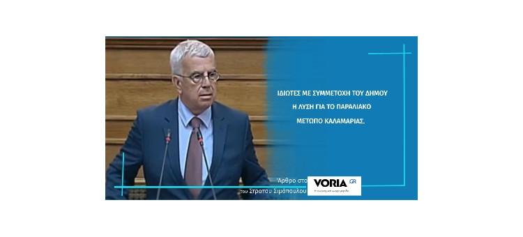 ΙΔΙΩΤΕΣ ΜΕ ΣΥΜΜΕΤΟΧΗ ΤΟΥ ΔΗΜΟΥ Η ΛΥΣΗ ΓΙΑ ΤΟ  ΠΑΡΑΛΙΑΚΟ ΜΕΤΩΠΟ ΚΑΛΑΜΑΡΙΑΣ (Άρθρο στο Voria.gr, στις 23-3-21)