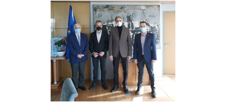 Σύσκεψη στο Δημαρχείο Θεσσαλονίκης για το θέμα των σταυρών των φαρμακείων (4-3-2021)